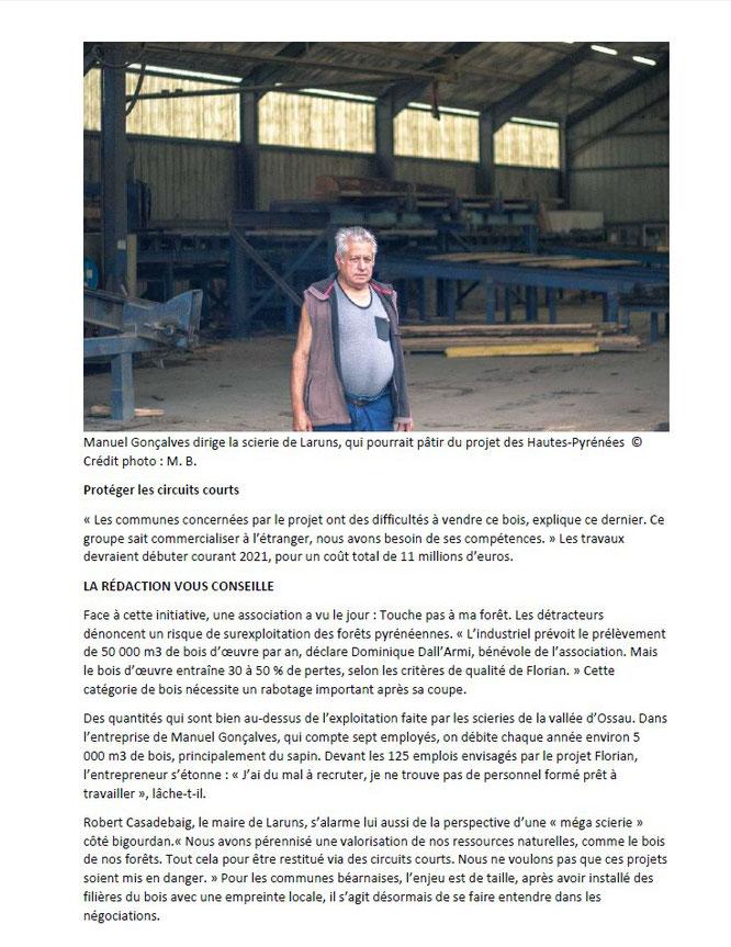 Le projet de Méga-scierie Florian inquiète la filière bois tout au long de la chaine des Pyrénées. Cette fois en Vallée d'Ossau page-2