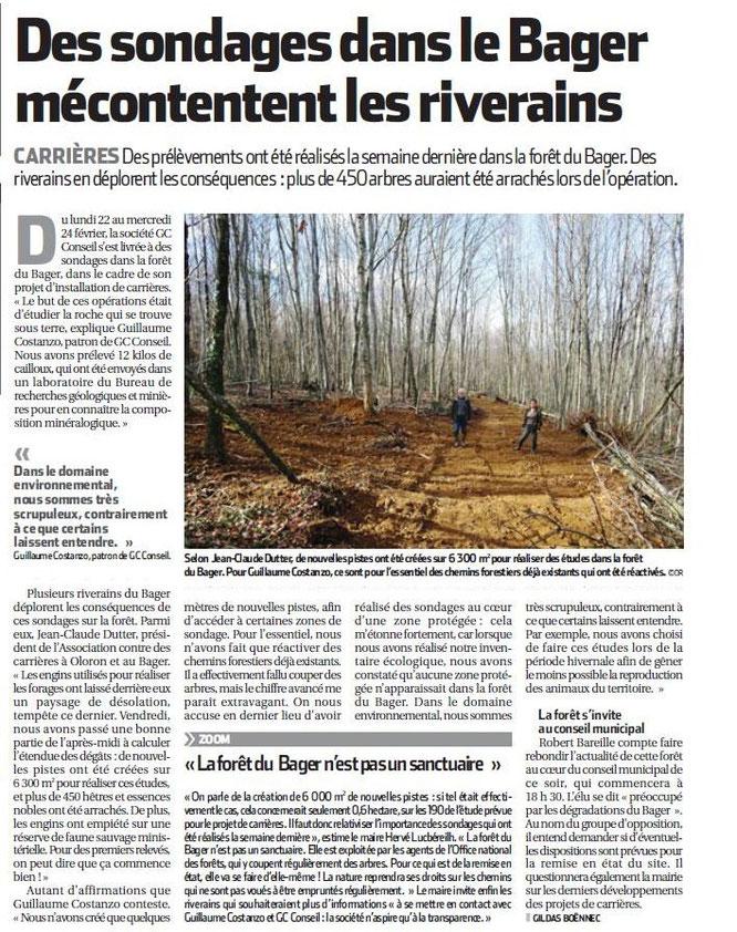 12 Kg de cailloux pour 500 arbres détruits à Oloron par M. le Maire !