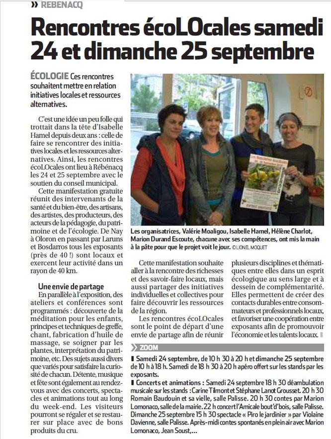 lesrencontesecolocales à Rébénacq le 24 et 25 septembre 2016