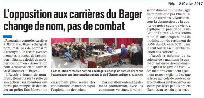 L'ACCOB et son AG par la République des Pyrénées - Oloron Ste Marie