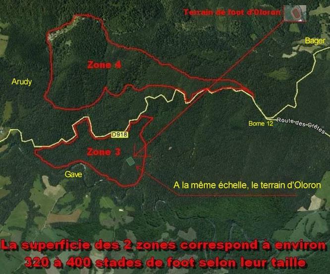 200 Ha de carrières détruirait toute la forêt d'Oloron