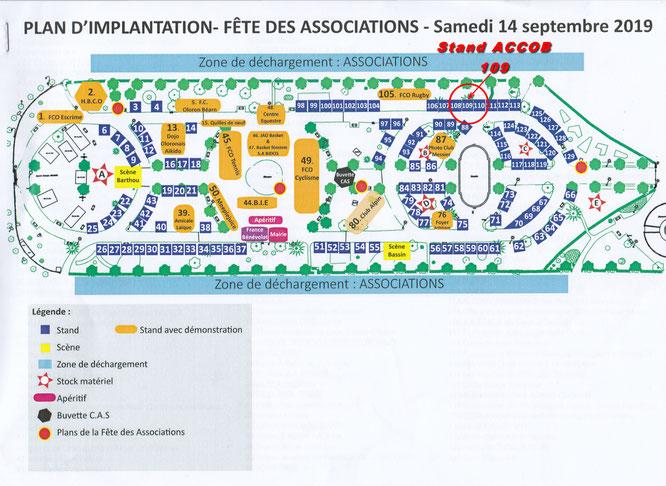Stand N° 109 - Association ACCOB (protection de la nature et de la forêt du Bager et Soeix.) Fête des associations.