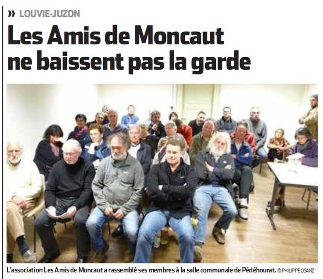 L'ACCOB soutient les amis de Moncaut