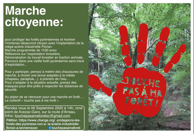 Marche contre le projet Florian-Rendez-vous à 14 heures au rond-point de Avezac Gare sur la route d'Arreau.