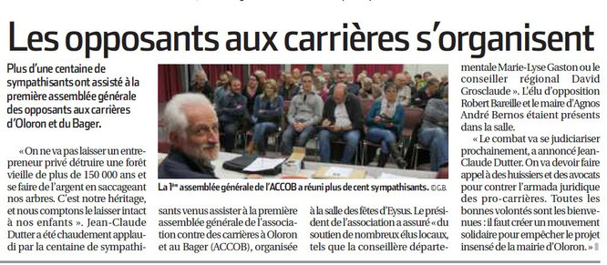 AG ACCOB article 9 mars 2016 La République