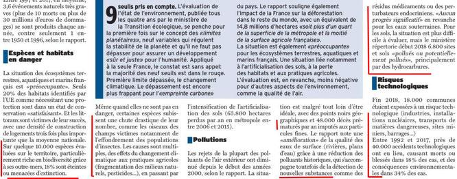 Article Octobre 2019 sur la République des Pyrénées - Évoquée, la disparition des oiseaux et autres espèces. ACCOB