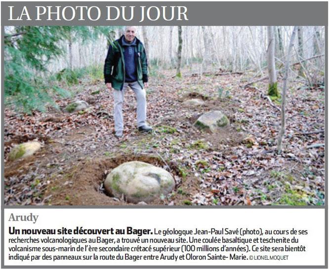 Un géologue qui travaille pour l'ACCOB et incite au tourisme géologique à Oloron