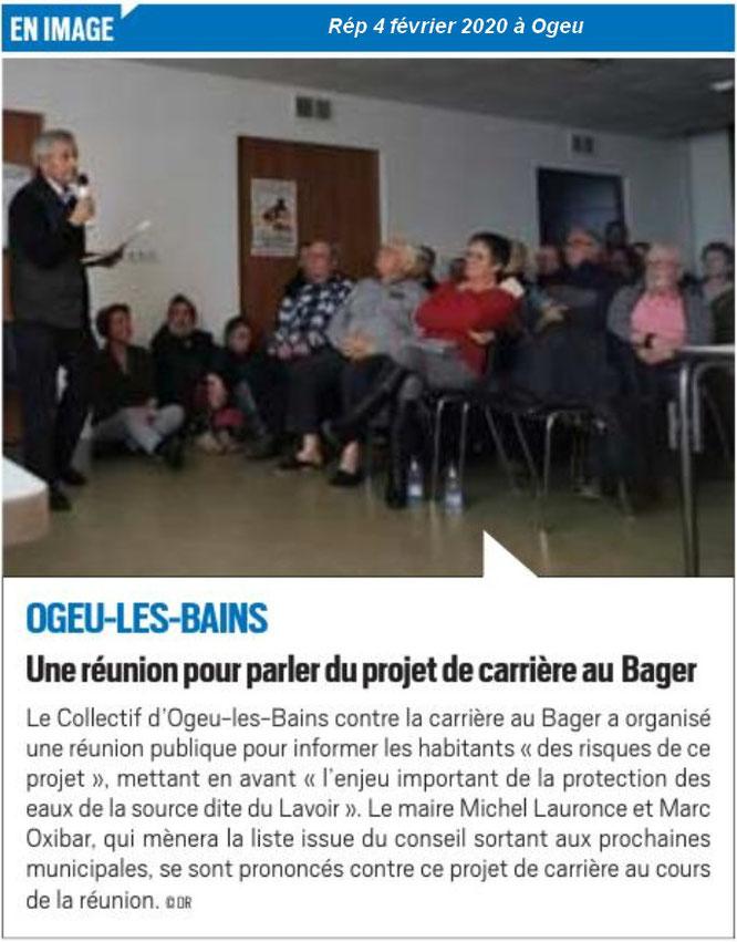 Bravo aux membres du Collectif d'Ogeu les Bains pour cette réunion qui a éclairci l'horizon sur cette commune phare en terme de qualité des Eaux d'Ogeu - ACCOB