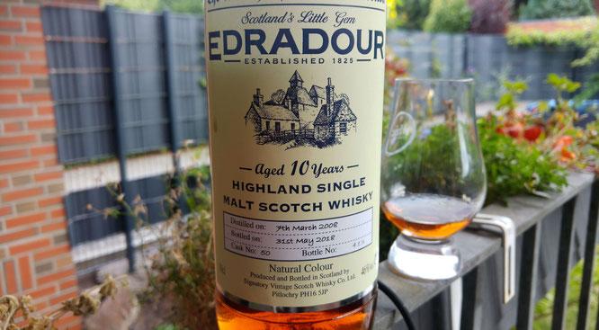 Edradour 2008 / 2018 Signatory Vintage Flasche