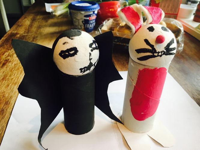 Mine barns verk 5: Påske-satan og påskeharen er med.
