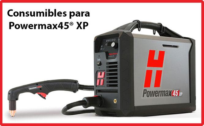 Consumibles para Equipos Hypertherm Powermax45 XP