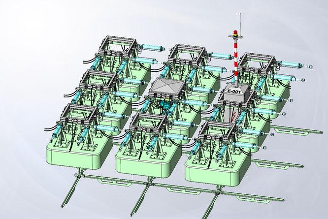 Kleinste Anlage: 36m², die jederzeit mit zusätzlichen Komponenten vergrößert werden kann