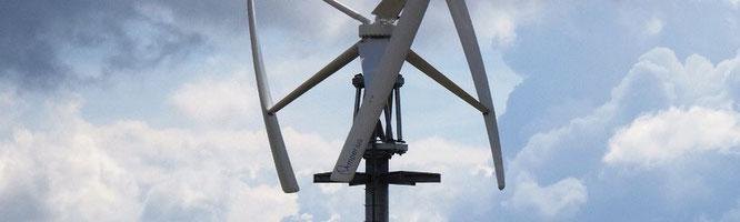 Vertikale Kleinwindkraftanlage - leistungsstark, für größere Stromverbräuche