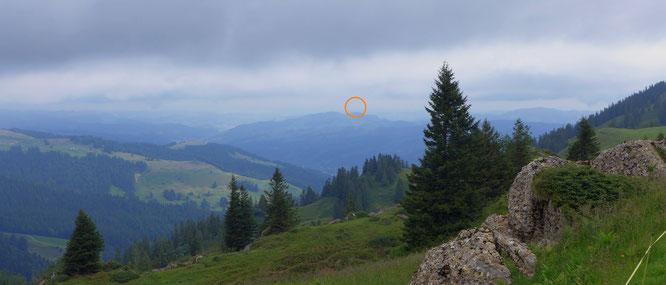 """der """"Blick zurück"""" vom Speer Richtung Napoleonturm"""