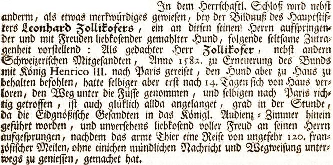 """aus D. Herrliberger, """"Topographie der Eidgenossenschaft"""" 1754"""