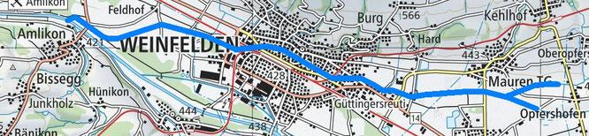 """Der Giessen fliesst mitten durch Weinfelden und ist somit der """"richtige"""" Dorfbach, nicht die Thur..."""