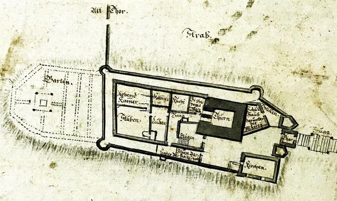 Grundriss; Zehntenplan 1695