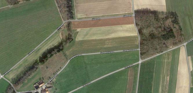 Screenshot aus der Orthofoto von Google Maps