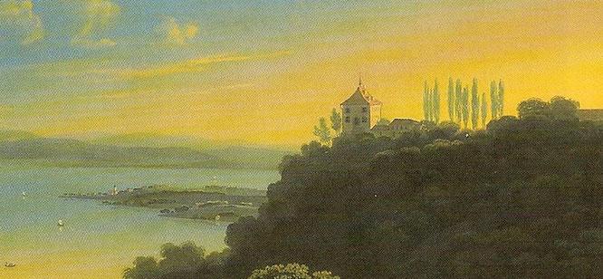 Sandegg 1834; Gouache von M. Schmidt