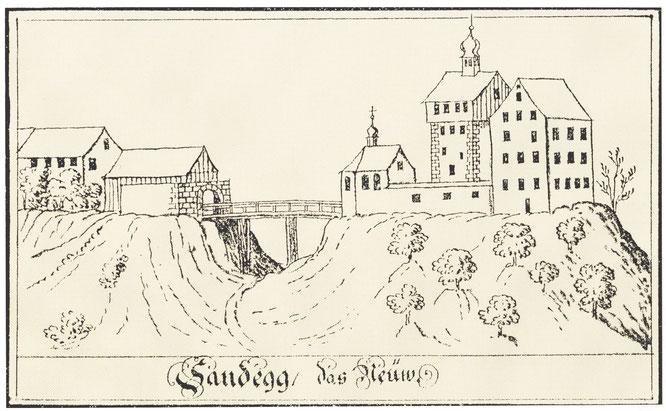 die Sandegg - das Neüw, also die Neue um 1750 - nach V. Meiss; wobei aber nicht klar ist, welcher Umbau damit gemeint war
