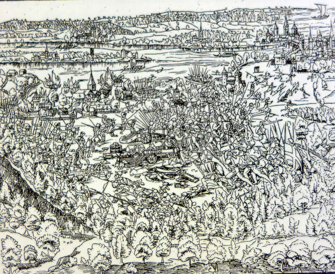 Holzschnitt aus der Stumpf-Chronik, Zürich 1548