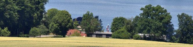 ... und so sieht man den Wolfsberg vom Turm aus.