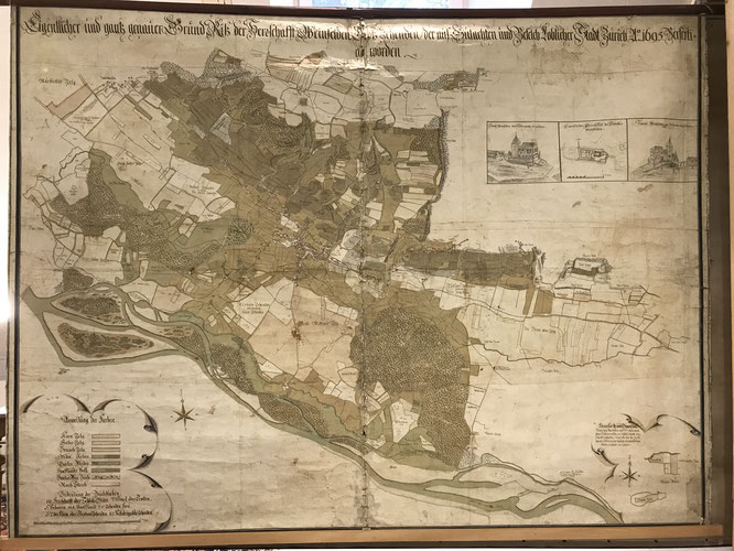 der Zehntenplan von Weinfelden 1695; Bürgerarchiv Weinfelden