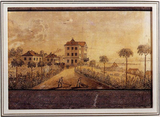 das neu erstelle Schloss Eugensberg 1823 - Niklaus Hug