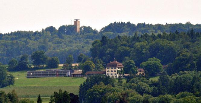 So thront der Napoleonturm heute hoch über dem Wolfsberg ...