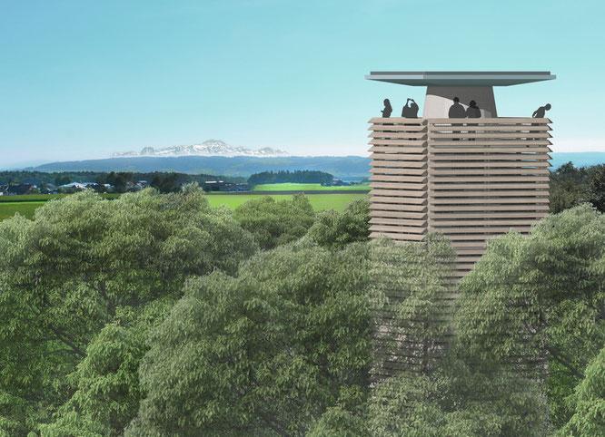 eine Visualisierung des projektierten Turms; Achitekturbüro Dransfeld
