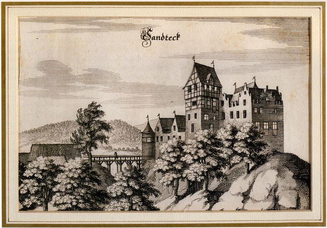 Sandegg 1654; Radierung von K. Merian