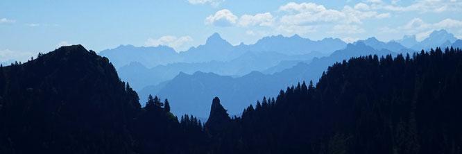 die Zimba vom Alpstein aus gesehen