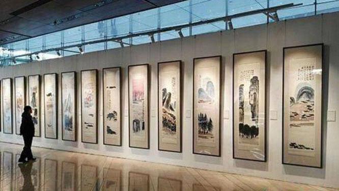 斉白石の作品《12の風景画》。Yahoo!ニュースより。
