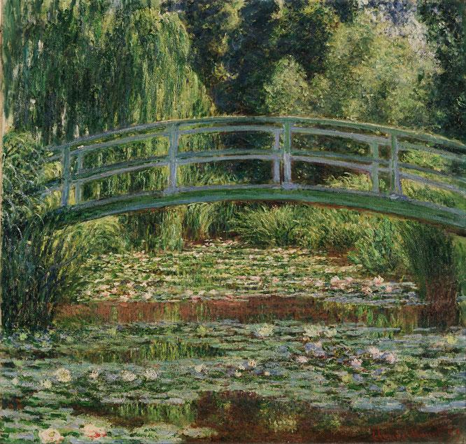 《ジヴェルニーの日本の橋と睡蓮の池》1899年