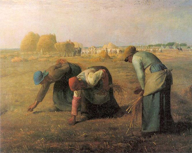 ジャン=フランソワ・ミレー《落穂拾い》1857年