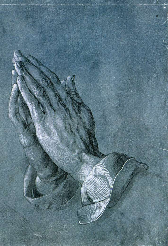 《祈りの手》の習作,1508年