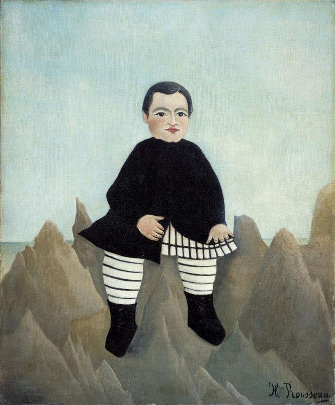アンリ・ルソー「岩の上の少年」(1895-1897年)