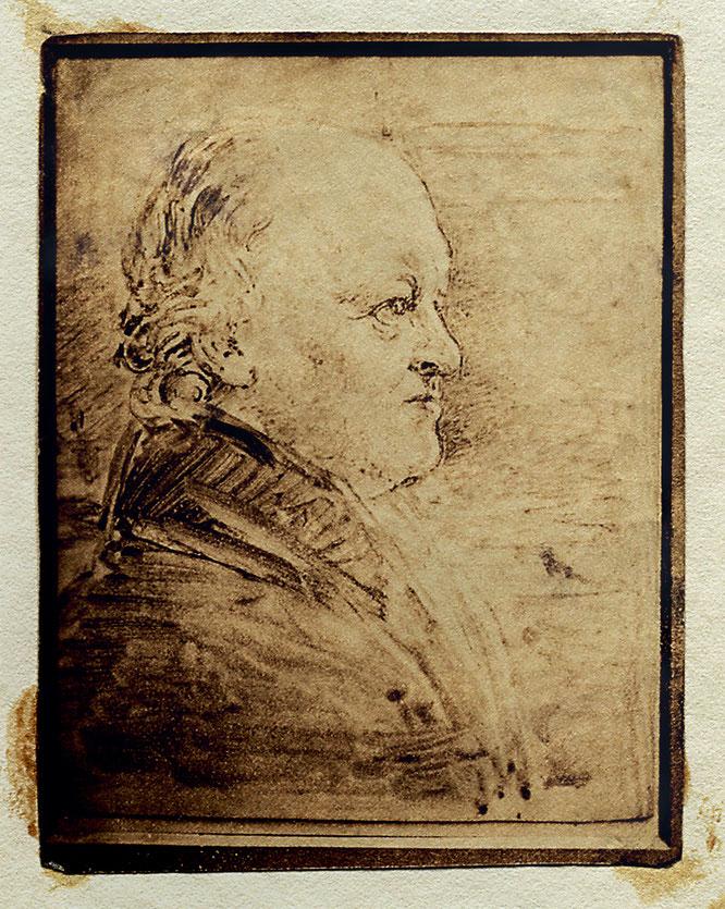ウィリアム・ブレイクの横顔の肖像画、ジョン・リンネル作。