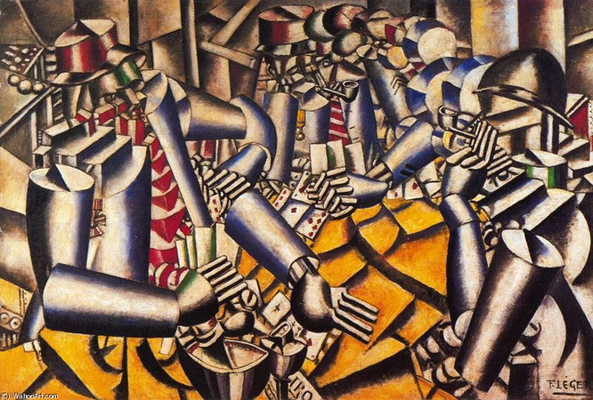 フェルナンド・レジェ「トランプのゲーム」(1917年)