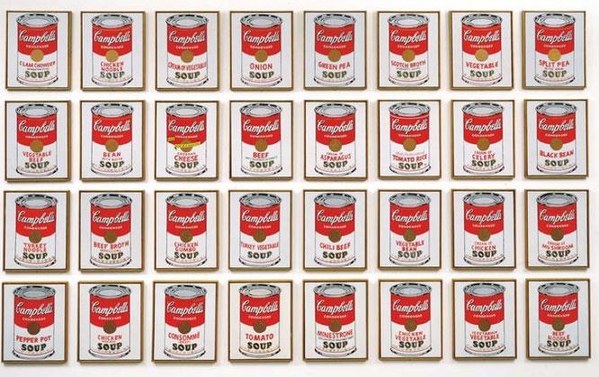 アンディ・ウォーホル「キャンベルスープの缶」(1962年)