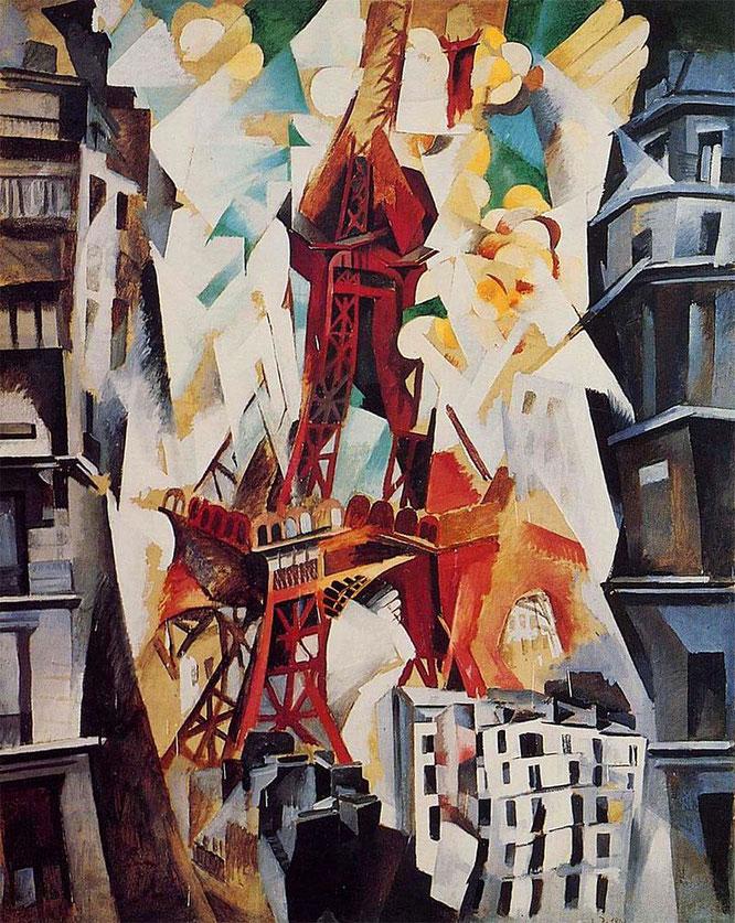ロベール・ドローネー「エッフェル塔」(1911年)