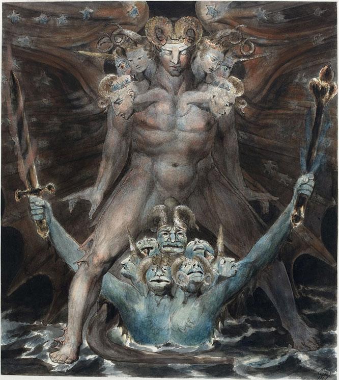 《グレート・レッド・ドラゴンと海の獣》1805-1810年頃