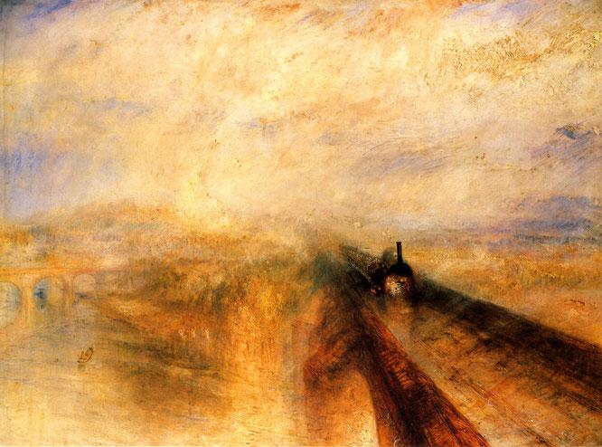 《雨、蒸気、スピード-グレート・ウェスタン鉄道》1844年