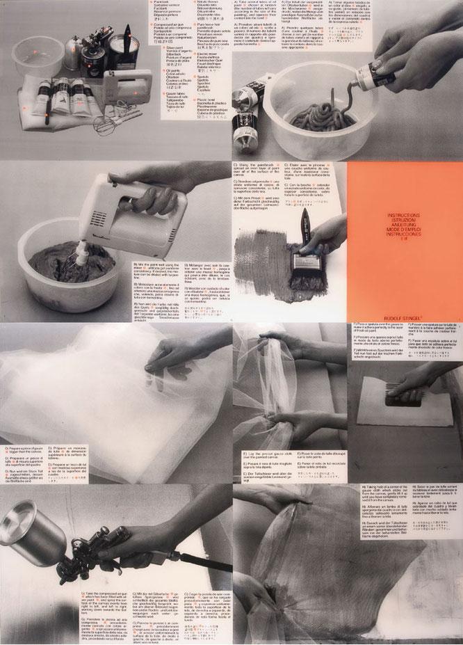 スティンゲル作品の制作手順を説明した『Instructions』。