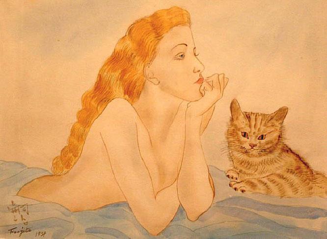 《猫と女性》1937年