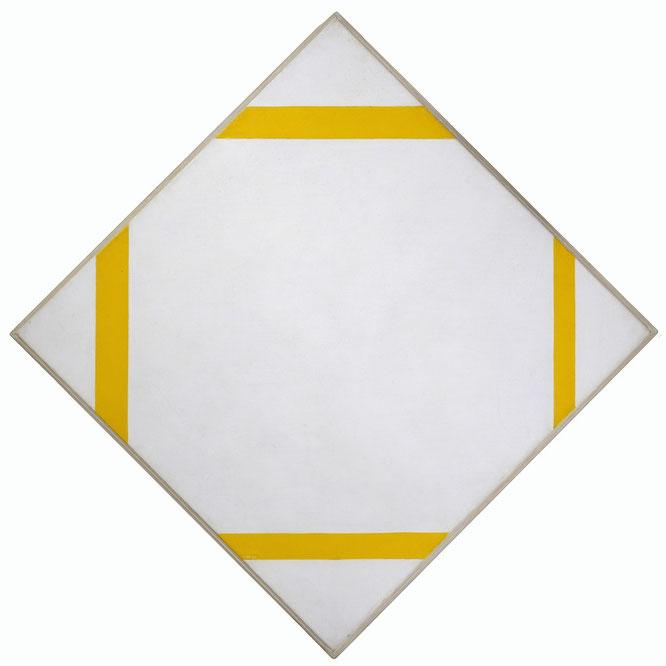 『4つの黄線で構成されたトローチ・コンポジション』(1933年)