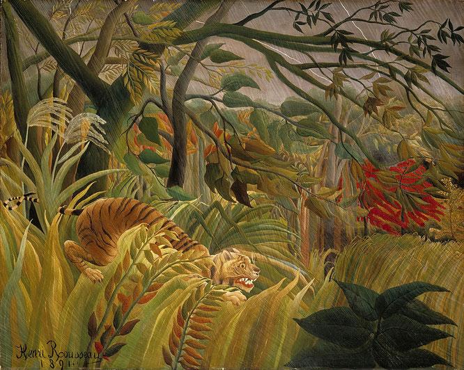 『熱帯雨林の中の虎』(1891年)