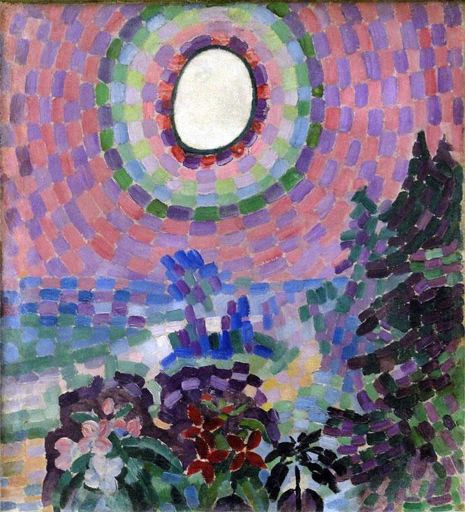 ロベール・ドローネー「Paysage au disque」(1906−1907)