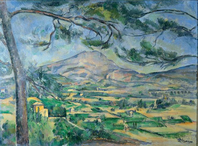 ポール・セザンヌ「サント・ヴィクトワール山」(1887年)