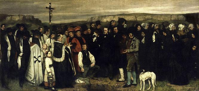 《オルナンの埋葬》1849-1850年